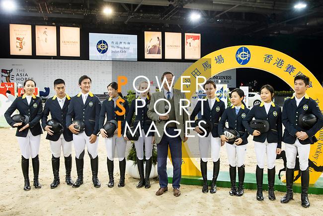 The Hong Kong Jockey Club chairman Dr Simon Ip poses for a photo prior to the Hong Kong Jockey Club Trophy during the Longines Masters of Hong Kong at the Asia World Expo on 09 February 2018, in Hong Kong, Hong Kong. Photo by Ian Walton / Power Sport Images