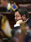 Nevada Senater Minority Leader Michael Roberson, R-Henderson, works on the Senate floor at the Legislative Building in Carson City, Nev., on Monday, April 22, 2013. .Photo by Cathleen Allison