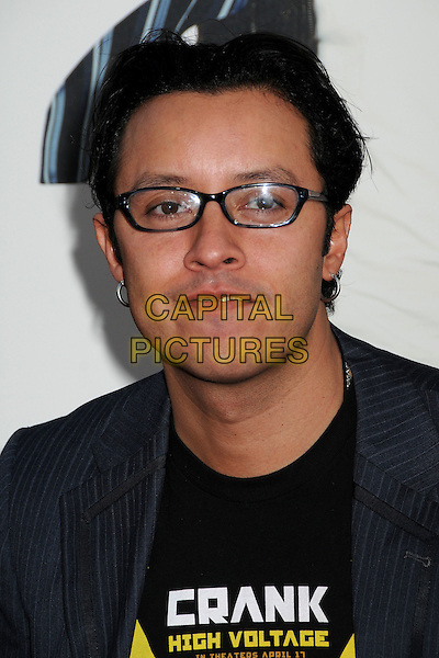 "EFREN RAMIREZ.""17 Again"" Los Angeles Premiere held at Grauman's Chinese Theatre, Hollywood, California, USA..April 14th, 2009.headshot portrait black glasses .CAP/ADM/BP.©Byron Purvis/AdMedia/Capital Pictures."