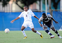 Florida International University men's soccer player Colby Burdette (2)  plays against Nova University on August 26, 2011 at Miami, Florida. FIU won the game 2-0. .
