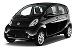 2016 Citroen C-Zero Confort 5 Door Micro Car Angular Front stock photos of front three quarter view