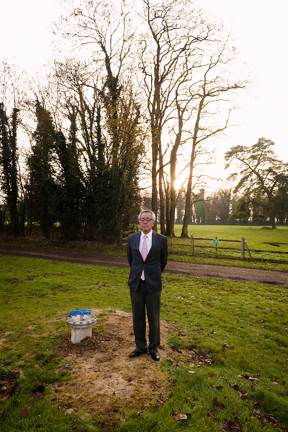 Yoshihide Hashimoto, Managing Director of Dojima Sake Brewery, by a well which is hoped will supply water for the brewery, Ely, UK, December 5, 2016.The Fordham Abbey Estate is set to be the site of the UK's first sake brewery. Work is underway on a new brewery and visitor centre, while the Grade II listed Georgian main house will host Japanese food and sake tasting events.