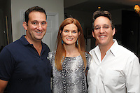 Nick Grouf, Abby Maxam, Noel Maxam==<br /> LAXART 5th Annual Garden Party Presented by Tory Burch==<br /> Private Residence, Beverly Hills, CA==<br /> August 3, 2014==<br /> ©LAXART==<br /> Photo: DAVID CROTTY/Laxart.com==