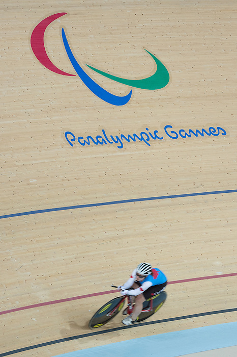 RIO DE JANEIRO - 6/9/2016:  Marie-Claude Molnar track cycling training at the Paralympic Village at the Rio 2016 Paralympic Games. (Photo by Matthew Murnaghan/Canadian Paralympic Committee