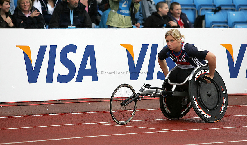 Photo: Paul Thomas..VISA Paralympic World Cup 2007. Athletics. 13/05/2007...Shelley Holmes of Great Britain.