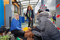 Pictured: Julie Morgan AM (R) meets parents and staff. Thursday 21 March 2019<br /> Re: Julie Morgan, AM, has met parents at Twinkle Star playgroup before new legislation is brought in by the Welsh Government to ban parents from smacking children, Cardiff, Wales, UK.