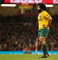 Australia's Tatafu Polota-Nau<br /> <br /> Photographer Simon King/CameraSport<br /> <br /> International Rugby Union - 2017 Under Armour Series Autumn Internationals - Wales v Australia - Saturday 11th November 2017 - Principality Stadium - Cardiff<br /> <br /> World Copyright &copy; 2017 CameraSport. All rights reserved. 43 Linden Ave. Countesthorpe. Leicester. England. LE8 5PG - Tel: +44 (0) 116 277 4147 - admin@camerasport.com - www.camerasport.com