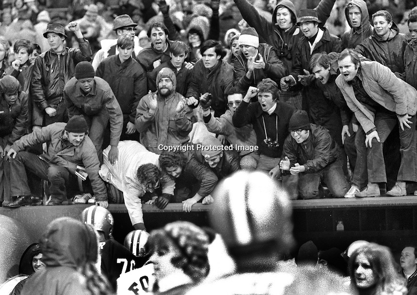 San Francisco 49er fans celebrate win..(photo 1970's,<br />by Ron Riesterer)
