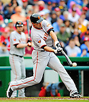 1 May 2011: San Francisco Giants outfielder Pat Burrell in action against the Washington Nationals at Nationals Park in Washington, District of Columbia. The Nationals defeated the Giants 5-2. Mandatory Credit: Ed Wolfstein Photo