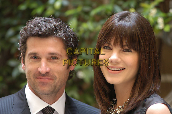 "PATRICK DEMPSEY & MICHELLE MONAGHAN.Photocall for the film ""Made Of Honor"", Rome, Italy..May 22nd, 2008.headshot portrait .CAP/CAV.©Luca Cavallari/Capital Pictures."