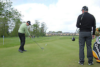 Martin Elandsson tees off while Paul McGinley waits his turn on the 7th tee during the third round of the Irish Open on 19th of May 2007 at the Adare Manor Hotel & Golf Resort, Co. Limerick, Ireland. (Photo by Eoin Clarke/NEWSFILE).