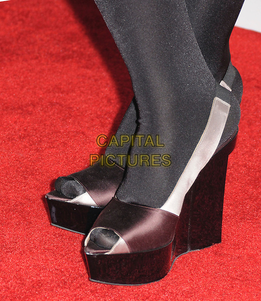 JAZMINE .attends The GRAMMY Nominations Concert Live!! held at Nokia Theatre L.A. Live in Los Angeles, California on December 3rd 2008..detail wedges open toe brown shoes  .CAP/DVS.©Debbie VanStory/Capital Pictures