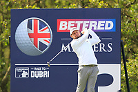 Tyrrell Hatton (ENG) on the 3rd tee during Round 3 of the Betfred British Masters 2019 at Hillside Golf Club, Southport, Lancashire, England. 11/05/19<br /> <br /> Picture: Thos Caffrey / Golffile<br /> <br /> All photos usage must carry mandatory copyright credit (&copy; Golffile | Thos Caffrey