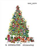 GIORDANO, CHRISTMAS ANIMALS, WEIHNACHTEN TIERE, NAVIDAD ANIMALES, Teddies, paintings+++++,USGI1837V,#XA#