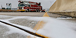 Ice covered the overpass on Highway 67 over Hampton Road on Sunday afternoon in Dallas on December 31, 2017. Dallas Fire Department was waiting for sand trucks. Temperatures are not expected to get out of the 20's on Sunday. (Irwin Thompson/Staff Photographer)