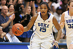 06 February 2012: Duke's Richa Jackson. The Duke University Blue Devils defeated the University of North Carolina Tar Heels 96-56 at Cameron Indoor Stadium in Durham, North Carolina in an NCAA Division I Women's basketball game.