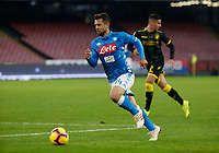 Amin Younes of Napoli  during the  italian serie a soccer match,  SSC Napoli - Frosinone       at  the San  Paolo   stadium in Naples  Italy , December 08, 2018