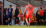 17.02.2019: Motherwell v Hearts: Hearts keeper Colin Doyle trudges off