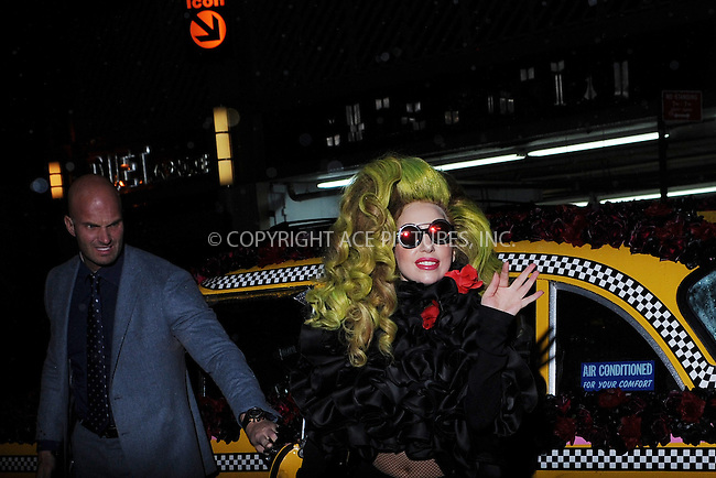 WWW.ACEPIXS.COM<br /> April 7, 2014 New York City<br /> <br /> Lady Gaga arrives to the Roseland Ballroom for the final show at the Roseland Ballroom on April 7, 2014 in New York City.<br /> <br /> Please byline: Kristin Callahan<br /> <br /> ACEPIXS.COM<br /> <br /> Tel: (212) 243 8787 or (646) 769 0430<br /> e-mail: info@acepixs.com<br /> web: http://www.acepixs.com