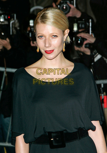 "GWYNETH PALTROW.At Fashion Group International 23rd Annual Night of Stars Honoring ""The Visionaries"" at Cipriani 42nd, New York, New York, USA..October 26th, 2006.Ref: ADM/JL.half length black belt red lipstick.www.capitalpictures.com.sales@capitalpictures.com.©Jackson Lee/AdMedia/Capital Pictures."