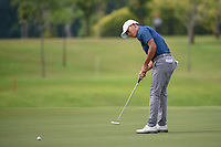 Lloyd Jefferson GO (PHI) watches his putt on 7 during Rd 4 of the Asia-Pacific Amateur Championship, Sentosa Golf Club, Singapore. 10/7/2018.<br /> Picture: Golffile | Ken Murray<br /> <br /> <br /> All photo usage must carry mandatory copyright credit (&copy; Golffile | Ken Murray)
