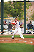 Jacob Thompson (17) of Trinity Prep High School in Charlotte, North Carolina during the Under Armour All-American Pre-Season Tournament presented by Baseball Factory on January 14, 2017 at Sloan Park in Mesa, Arizona.  (Zac Lucy/Mike Janes Photography)