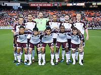 The Colorado Rapids line up before the game at RFK Stadium in Washington, DC.  D.C. United tied the Colorado Rapids, 1-1.