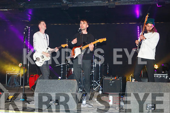 Performing on stage at the Freshers Fest in the Square on Tuesday night.
