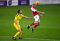 Fleetwood Town's Paddy Madden rises for a header<br /> <br /> Photographer Richard Martin-Roberts/CameraSport<br /> <br /> The EFL Sky Bet League One - Saturday 15th December 2018 - Fleetwood Town v Burton Albion - Highbury Stadium - Fleetwood<br /> <br /> World Copyright &not;&copy; 2018 CameraSport. All rights reserved. 43 Linden Ave. Countesthorpe. Leicester. England. LE8 5PG - Tel: +44 (0) 116 277 4147 - admin@camerasport.com - www.camerasport.com