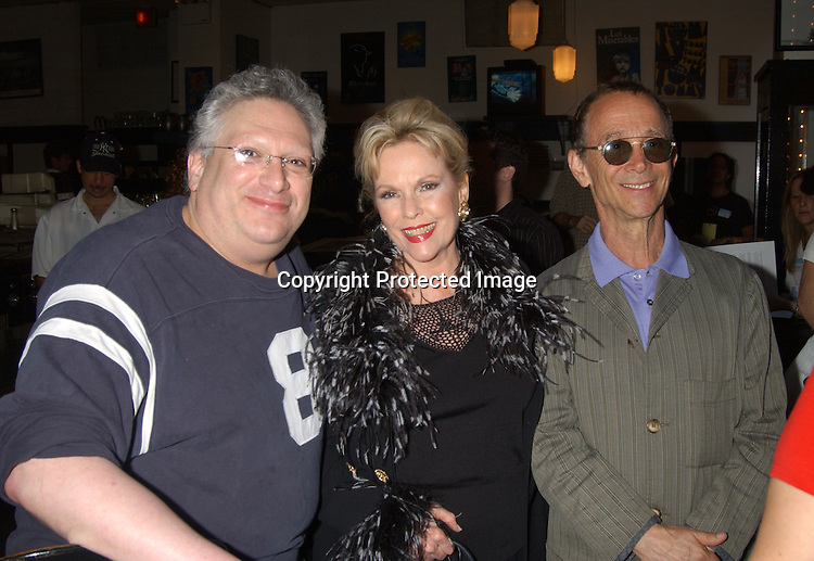 Harvey Fierstein, Eileen Fulton and Joel Grey                               ..at the Broadway Cares/Equity Fights Aids 17th Annual ..Broadway Flea Market on September 21, 2003 at Shubert Alley . Photo By Robin Platzer, Twin Images..