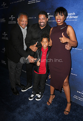 Beverly Hills, CA - DECEMBER 09: Jesse Jackson, David Otunga, Jennifer Hudson, David Otunga Jr, At 2016 March Of Dimes Celebration Of Babies At The Beverly Wilshire Four Seasons Hotel, California on December 09, 2016. Credit: Faye Sadou/MediaPunch