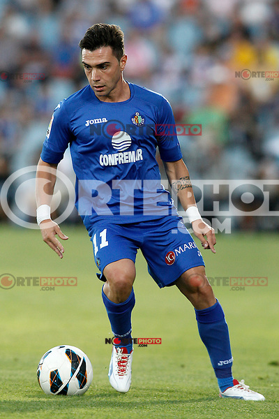 Getafe's Adrian Colunga during La Liga match.September 15,2012. (ALTERPHOTOS/Acero) /NortePhoto<br />