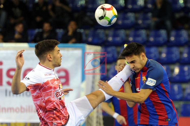 League LNFS 2016/2017 - Game 8.<br /> FC Barcelona Lassa vs ElPozo Murcia: 2-3.<br /> Andresito vs Roger.