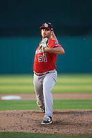 Louisville Bats relief pitcher Matt Magill (51) delivers a pitch during a game against the Syracuse Chiefs on June 6, 2016 at NBT Bank Stadium in Syracuse, New York.  Syracuse defeated Louisville 3-1.  (Mike Janes/Four Seam Images)
