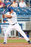 August 19,2010 Michael Mitchell (4) in action during the MiLB game between the Midland RockHounds and the Tulsa Drillers at OneOk Field in Tulsa Oklahoma.