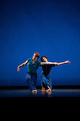 """Maile Okamura and Dallas McMurray of Mark Morris Dance Group performs """"Rock of Ages"""" Friday, July 27th 2012 at DPAC in Durham."""
