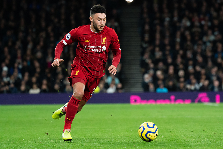 Liverpool's Alex Oxlade-Chamberlain <br /> <br /> Photographer Stephanie Meek/CameraSport<br /> <br /> The Premier League - Tottenham Hotspur v Liverpool - Saturday 11th January 2020 - Tottenham Hotspur Stadium - London<br /> <br /> World Copyright © 2020 CameraSport. All rights reserved. 43 Linden Ave. Countesthorpe. Leicester. England. LE8 5PG - Tel: +44 (0) 116 277 4147 - admin@camerasport.com - www.camerasport.com