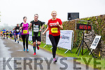 Sinead Healy Kilgarvan  crosses the line at the end of the Killarney Run half marathon in the Gleneagle Hotel on Saturday