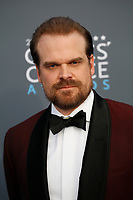 David Harbour attends the 23rd Annual Critics' Choice Awards at Barker Hangar in Santa Monica, Los Angeles, USA, on 11 January 2018. Photo: Hubert Boesl - NO WIRE SERVICE - Photo: Hubert Boesl/dpa/dpa-mag /MediaPunch ***FOR USA ONLY***