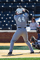 TJ Diffenderfer (44) of the Marshall Thundering Herd at bat against the Georgetown Hoyas at Wake Forest Baseball Park on February 15, 2014 in Winston-Salem, North Carolina.  The Thundering Herd defeated the Hoyas 5-1.  (Brian Westerholt/Four Seam Images)