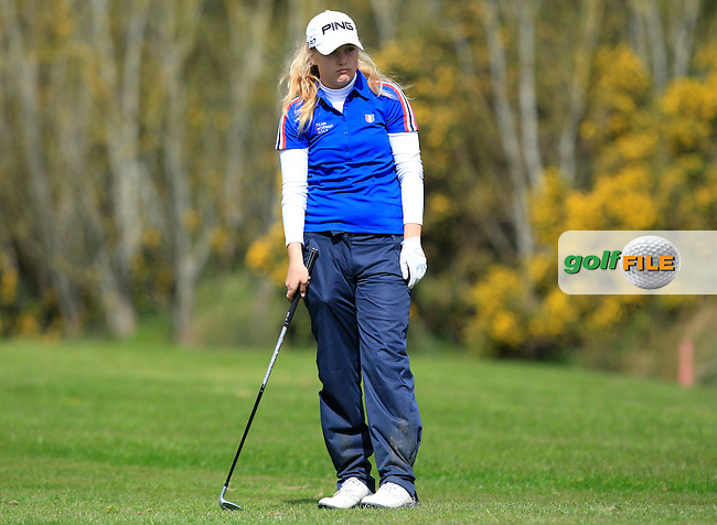 Celine Borge (NOR) on the 14th on her way to winning the Irish Girl's Open Stroke Play Championship at Roganstown Golf &amp; Country Club on Sunday 17th April 2016.<br /> Picture:  Thos Caffrey / www.golffile.ie