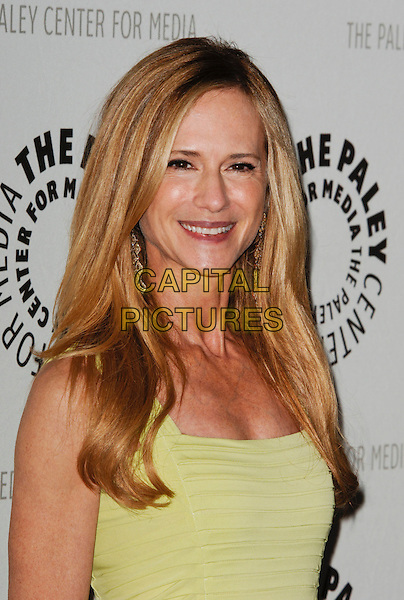 """HOLLY HUNTER .arriving at the Third Season Premiere and Panel Discussion for """"Saving Grace"""" at The Paley Center for Media in Beverly Hills, California, USA, June 13th 2009..portrait headshot  yellow dress lime green ruched .CAP/ROT.©Lee Roth/Roth Stock/Capital Pictures."""