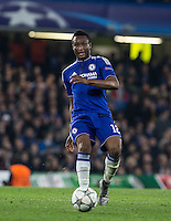 Mikel John Obi of Chelsea during the UEFA Champions League Round of 16 2nd leg match between Chelsea and PSG at Stamford Bridge, London, England on 9 March 2016. Photo by Andy Rowland.