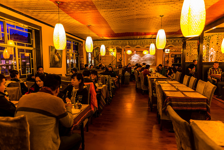 Lhasa Kitchen restaurant, Lhasa, Tibet (Xizang), China.