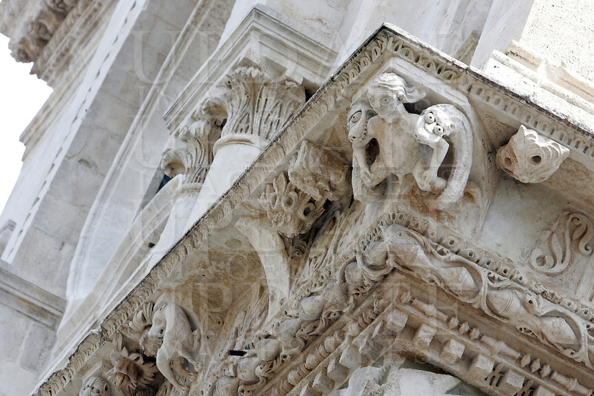 Dettaglio esterno della Cattedrale di Foggia.<br /> Exterior detail of the Cathedral of Foggia.<br /> UPDATE IMAGES PRESS/Riccardo De Luca