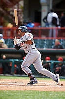 Richmond Flying Squirrels outfielder Javier Herrera (14) at bat during a game against the Erie Seawolves on May 20, 2015 at Jerry Uht Park in Erie, Pennsylvania.  Erie defeated Richmond 5-2.  (Mike Janes/Four Seam Images)