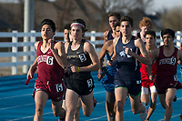 NWA Democrat-Gazette/J.T. WAMPLER Runners compete in the boys 800 meter relay Thursday March 8, 2018 at the Joe Roberts Relays track meet at Har-Ber High School in Springdale. Har-Ber won the relay in 8:19.83.