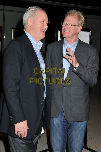 """JOHN LITHGOW & ED BEGLEY JR..""""Whatever Works"""" Los Angeles Premiere held at the Pacific Design Center, West Hollywood, CA, USA..June 8th, 2009.half length black blue grey gray shirt suit jacket glasses hand profile.CAP/ADM/BP.©Byron Purvis/AdMedia/Capital Pictures."""