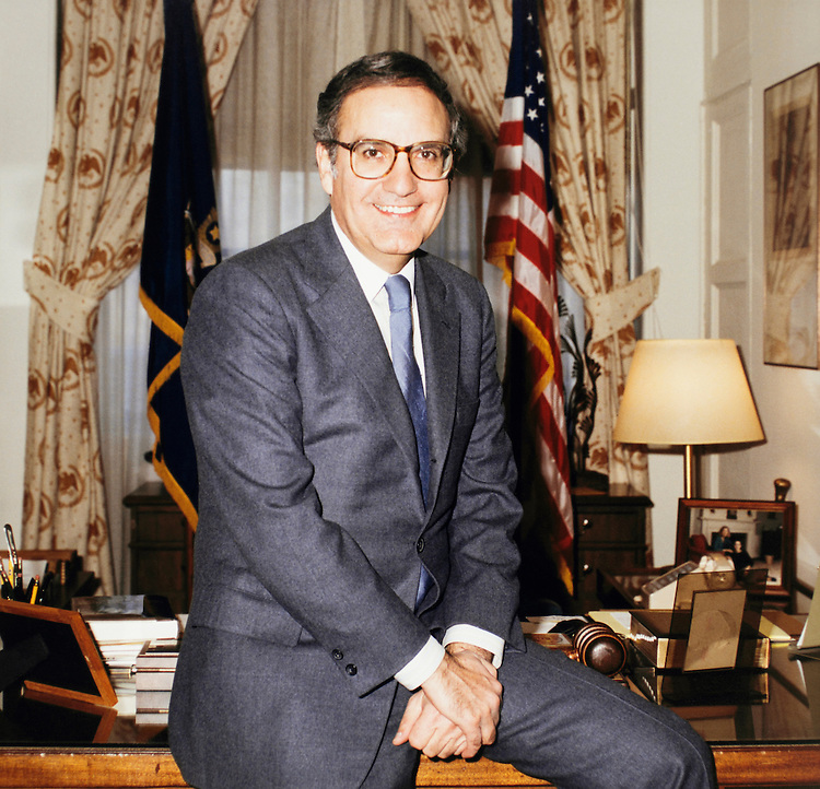 Portrait of Sen. George John Mitchell, D-Maine. 1989 (Photo by CQ Roll Call)