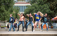 Occidental College students perform for admitted students and their parents during Experience Oxy! Admitted Student Day, April 18, 2014. (Photo by Marc Campos, Occidental College Photographer)